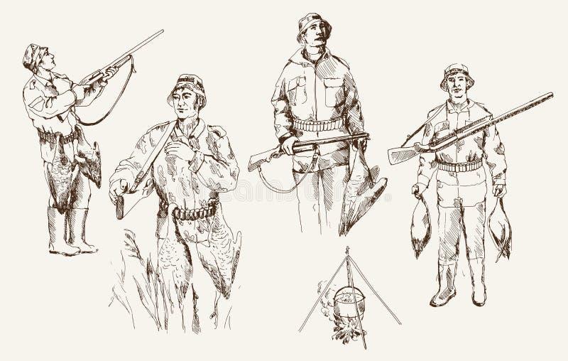 Охота иллюстрация штока