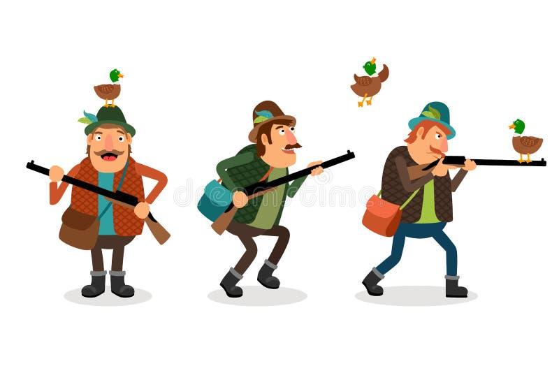 Охотник вектора с оружием бесплатная иллюстрация