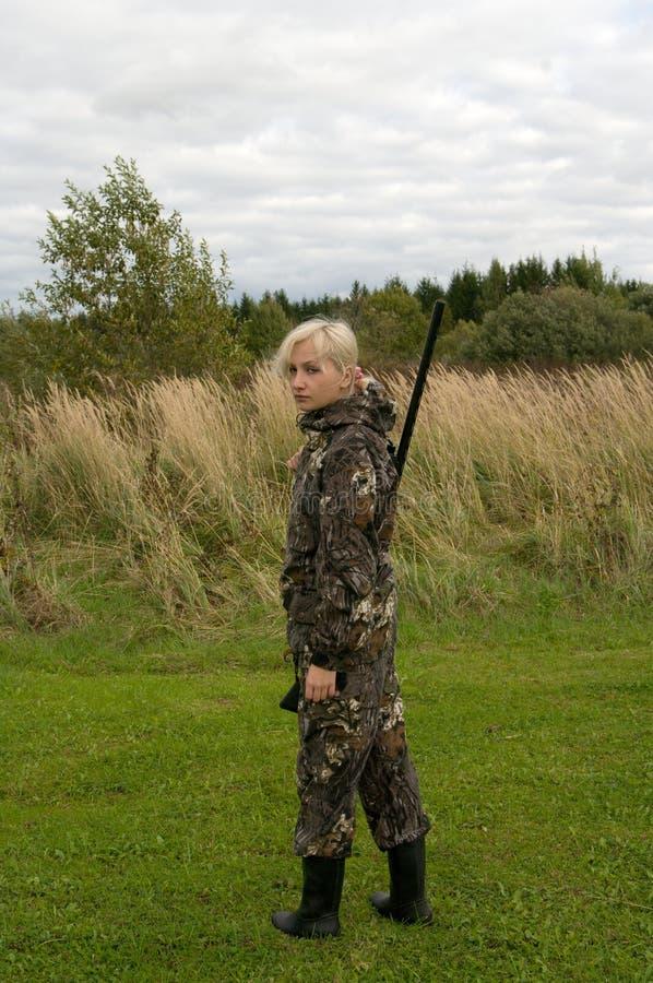 охотник девушки стоковое фото rf