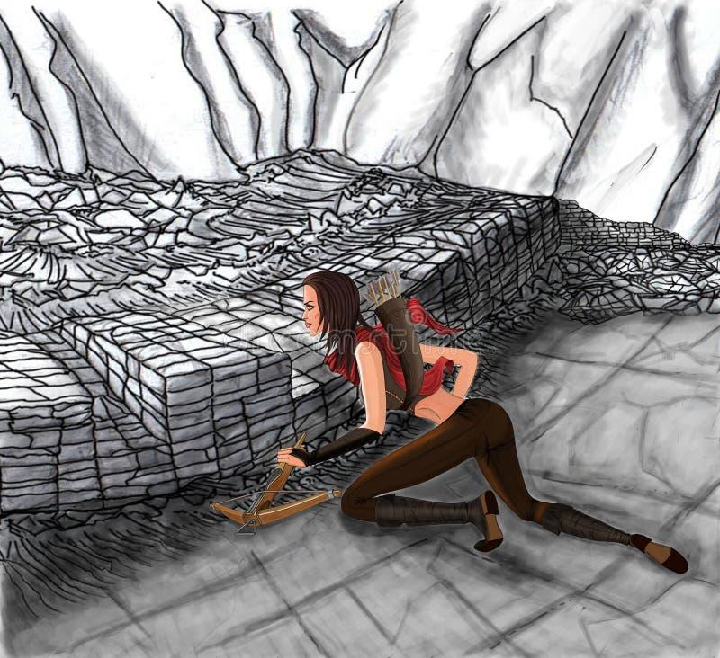 Охотник демона в концепции Диабло стоковая фотография rf