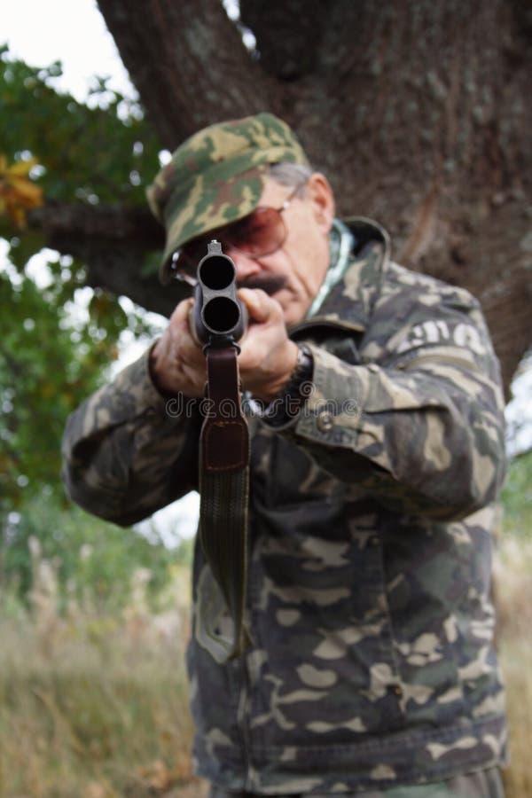 охотник пушки стоковые изображения rf