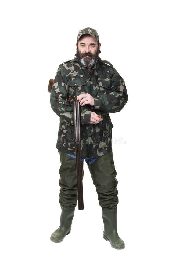 Охотник утки стоковое фото
