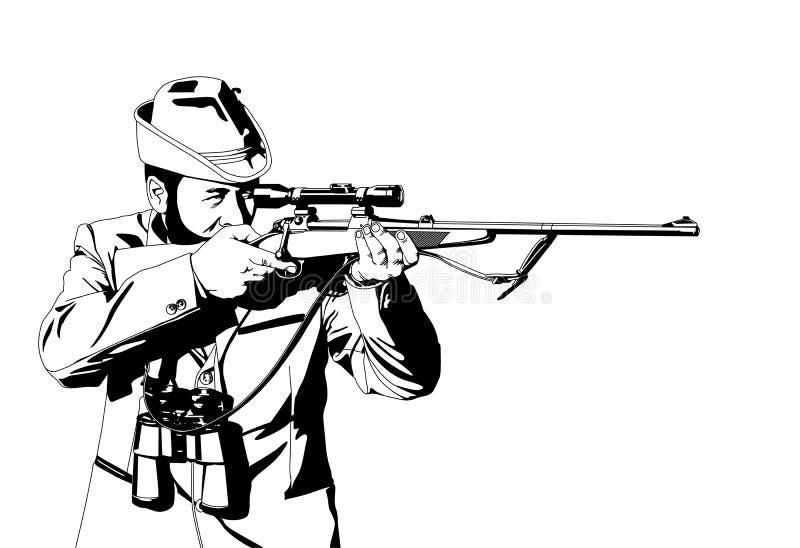 охотник иллюстрация штока
