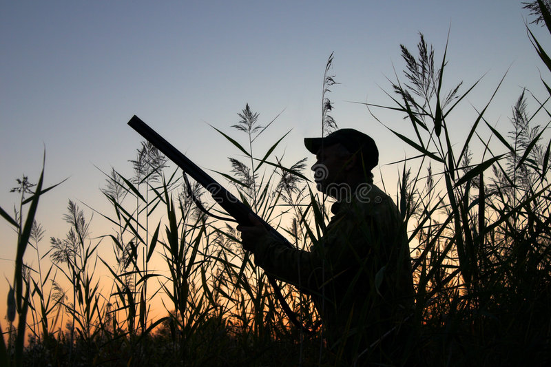 охотник стоковое изображение