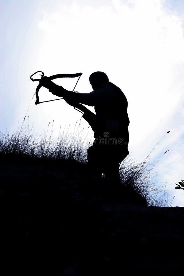 охотник crossbow стоковое фото rf