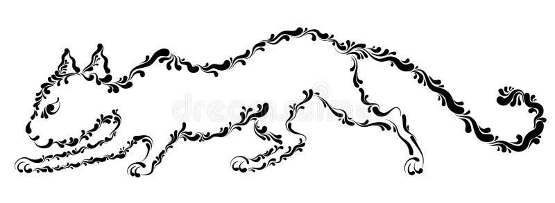 Охоты кота иллюстрация штока