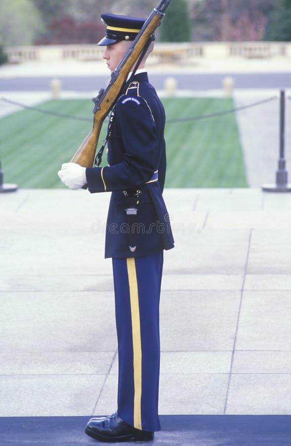 Охранник морского пехотинца США стоковые фотографии rf