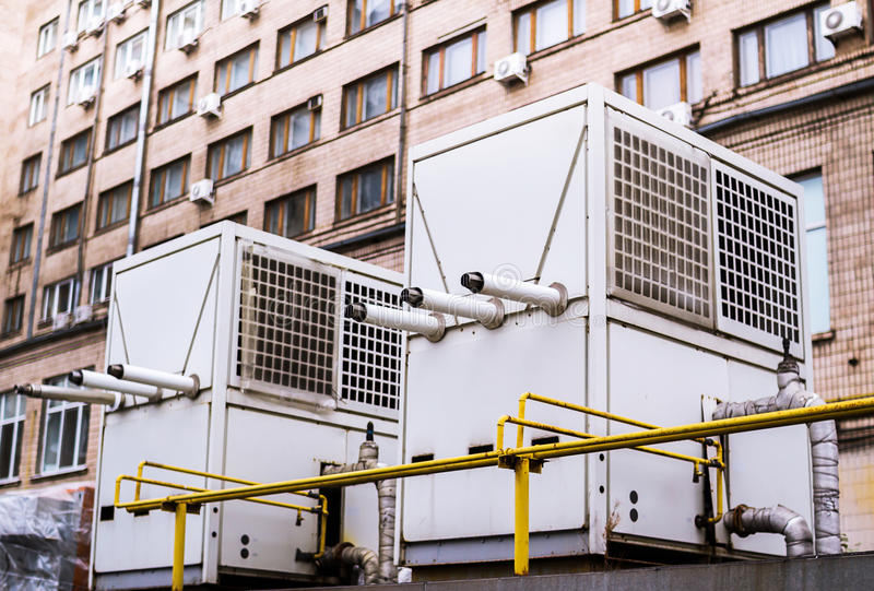 Охладители кондиционера стоковое фото rf