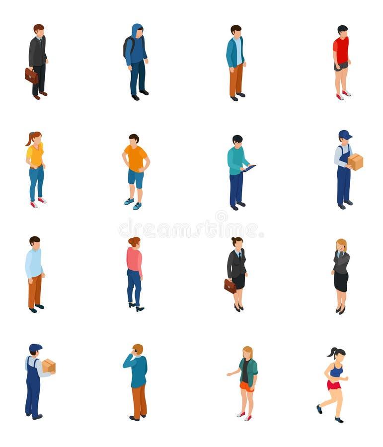 Охладите равновеликие людей различных профессий волосами одежд секса уровня образования работы бесплатная иллюстрация