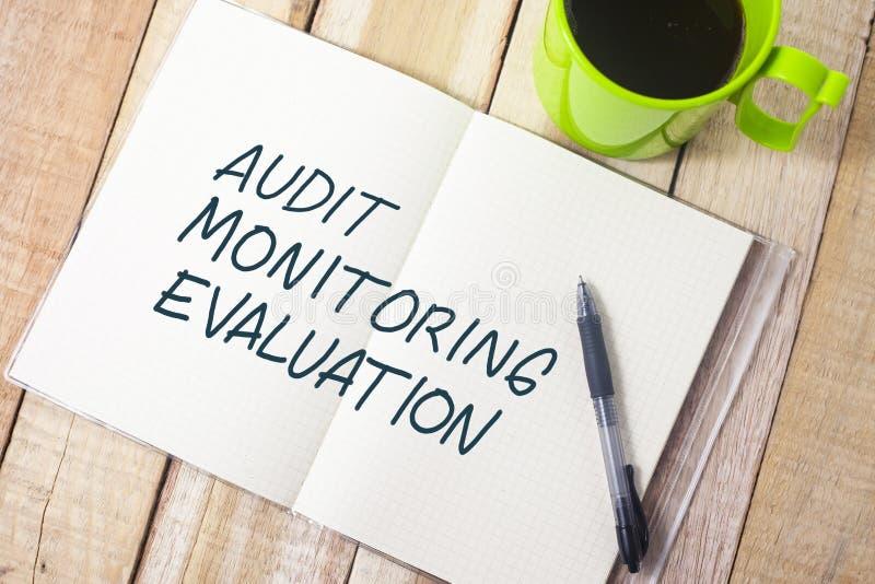 Оценка, проверка дела контролируя мотивационные цитаты слов стоковое фото rf