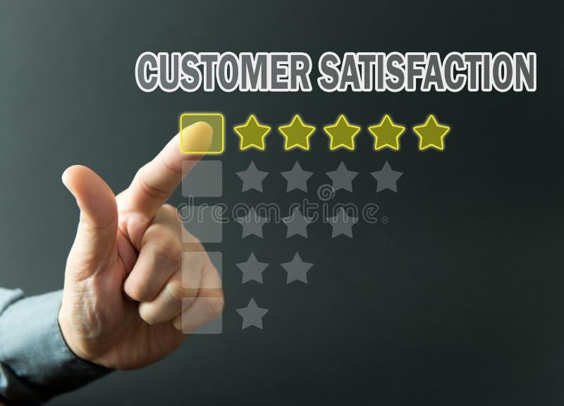Оценка удовлетворения клиента стоковые фото
