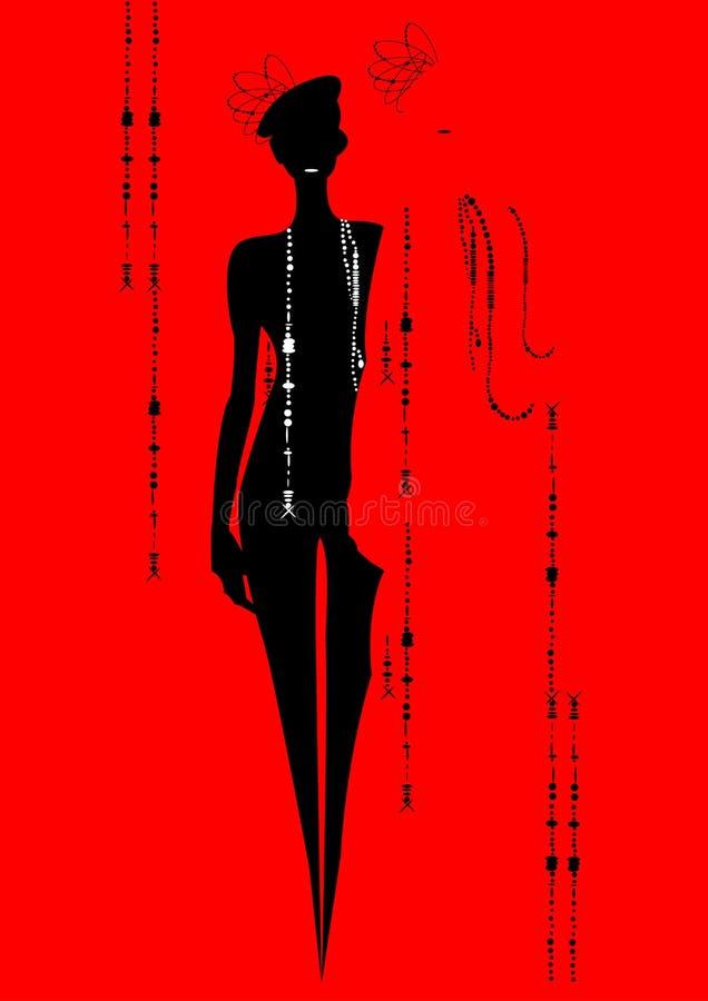 очарование девушки идет подиум иллюстрация вектора