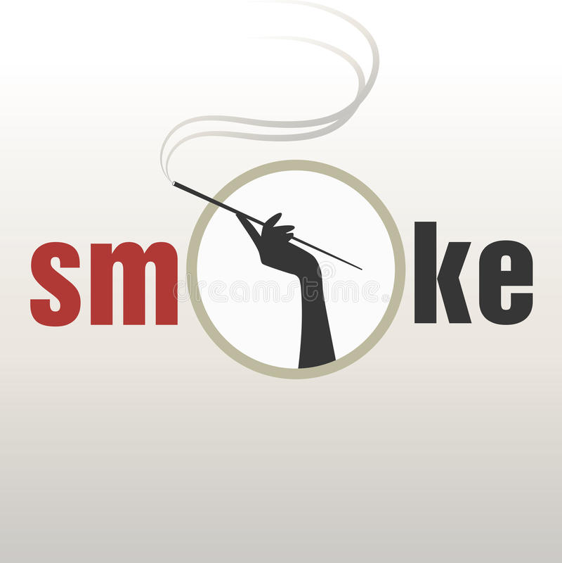 Очарование логотипа копченое бесплатная иллюстрация