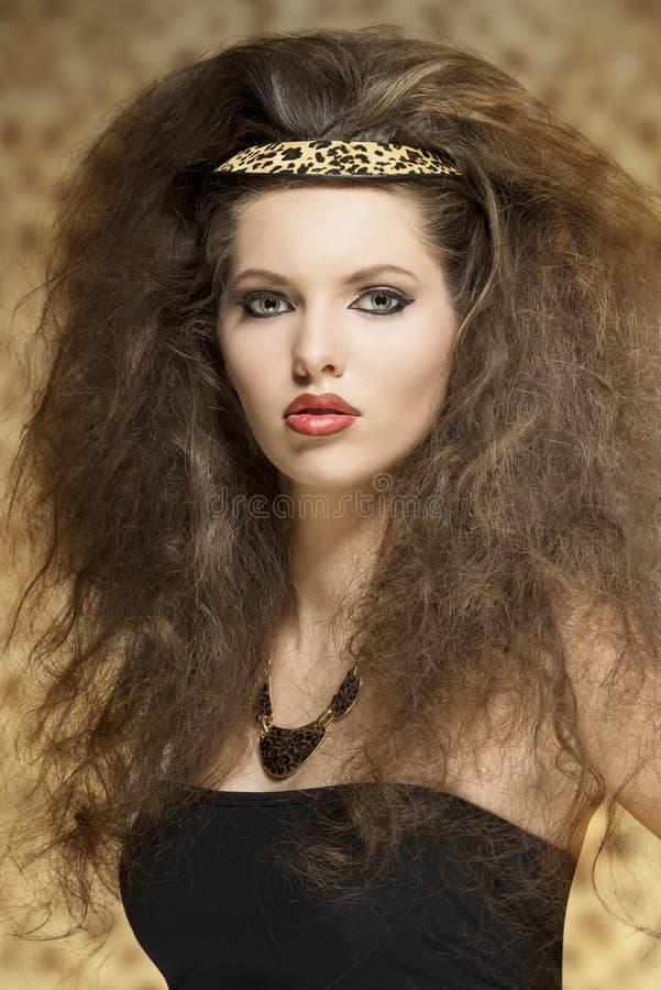 Очаровательная женщина моды стоковое изображение rf