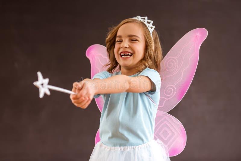 Очаровательная маленькая фея стоковая фотография