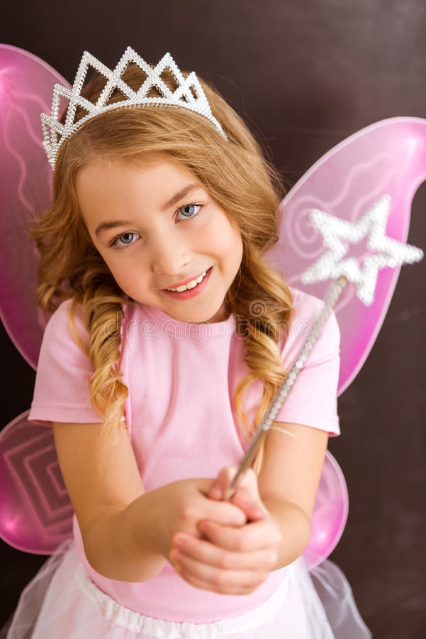 Очаровательная маленькая фея стоковая фотография rf