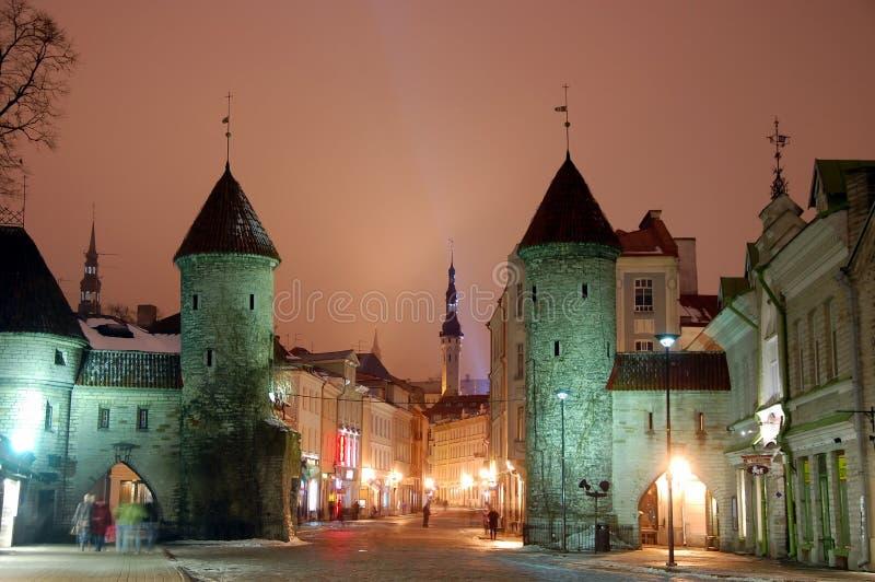 очаруйте строб старый tallinn эстонии к viru городка стоковая фотография rf