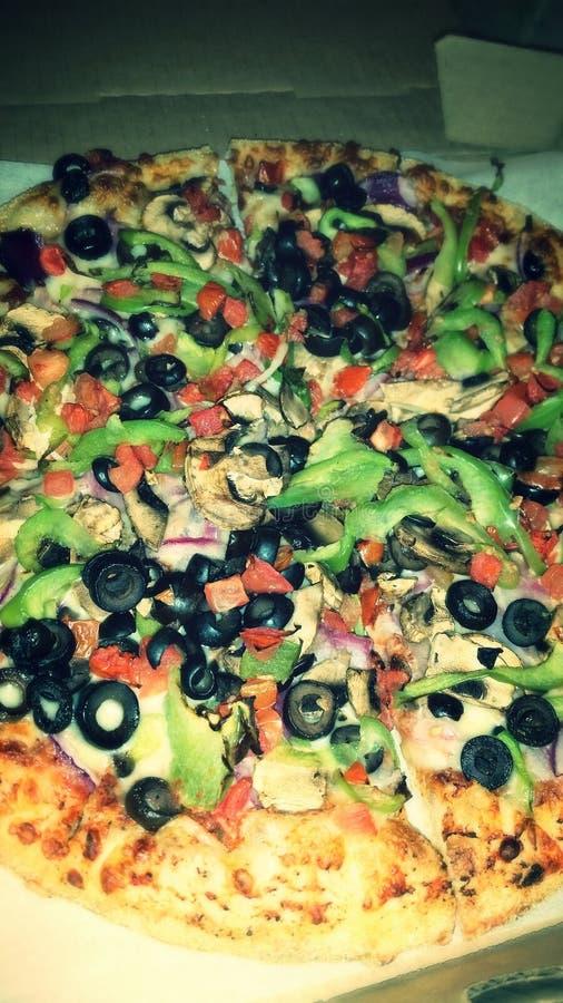 Очень вкусная пицца veggie стоковая фотография