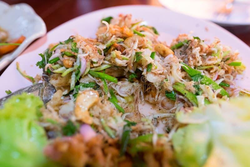 Очень вкусная тайская еда, трава лимона смешивания стоковые фотографии rf