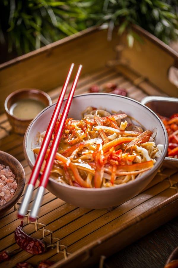 Очень вкусные лапши риса стоковые фото