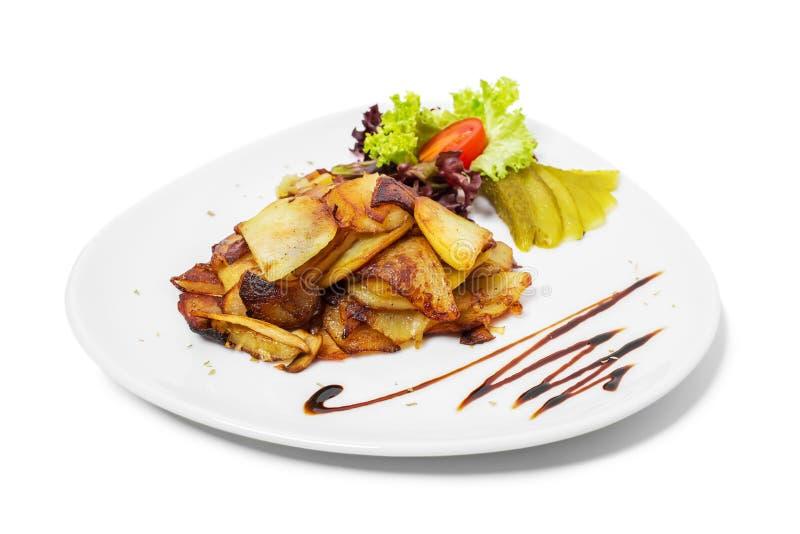 Очень вкусные зажаренные в духовке картошки стоковое фото rf