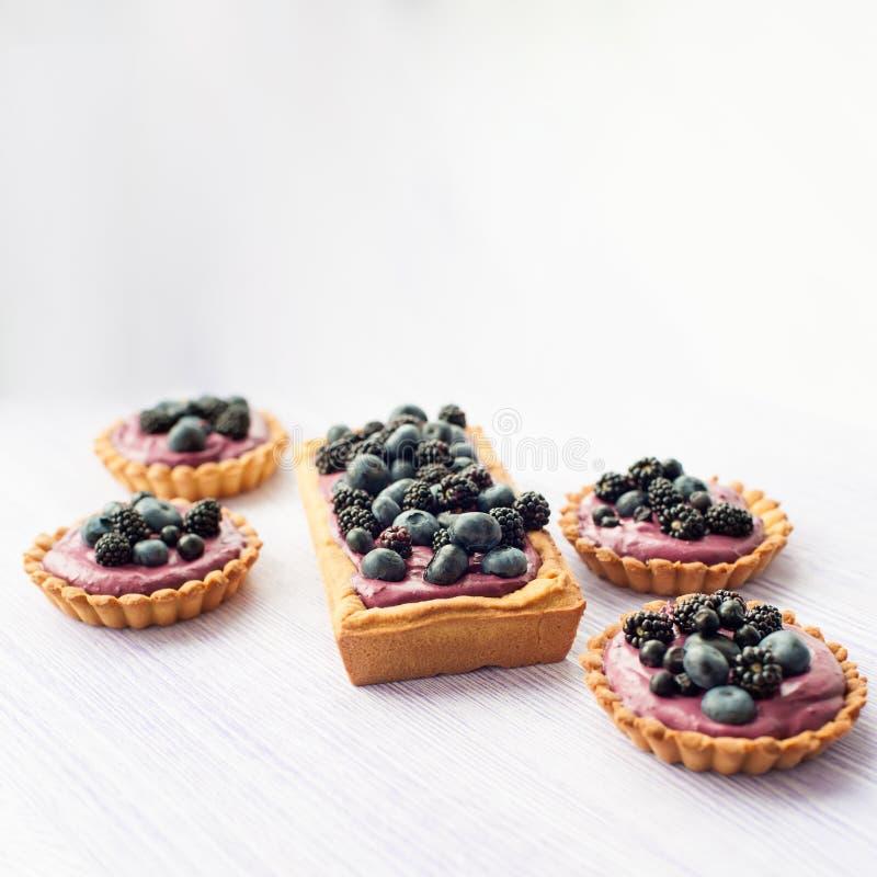 Очень вкусные пироги ягод стоковая фотография rf
