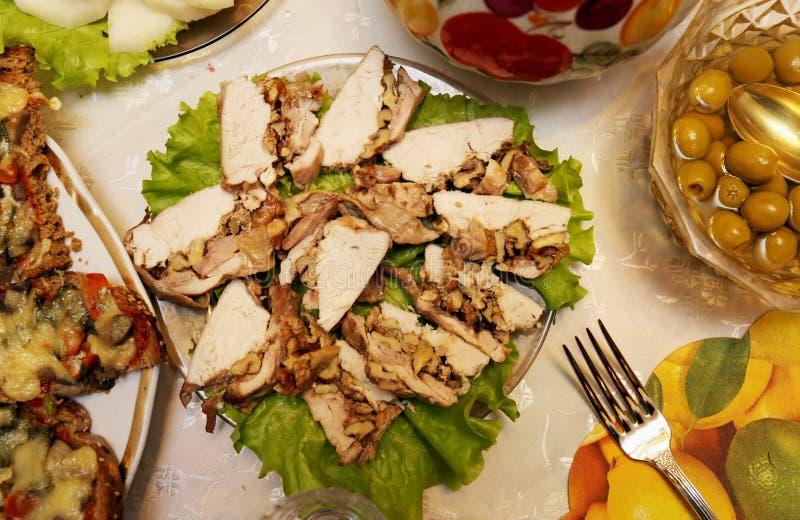 Очень вкусные сандвичи с грибами и сыром стоковое изображение rf