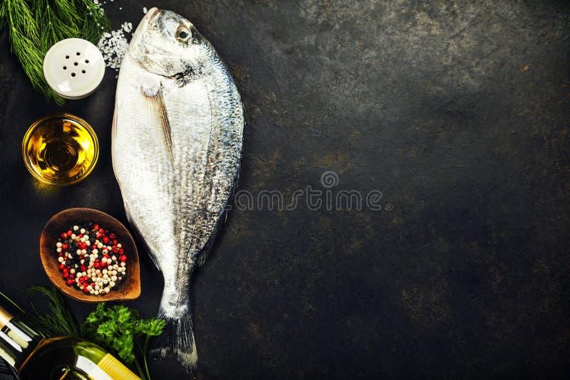 Очень вкусные свежие рыбы стоковая фотография