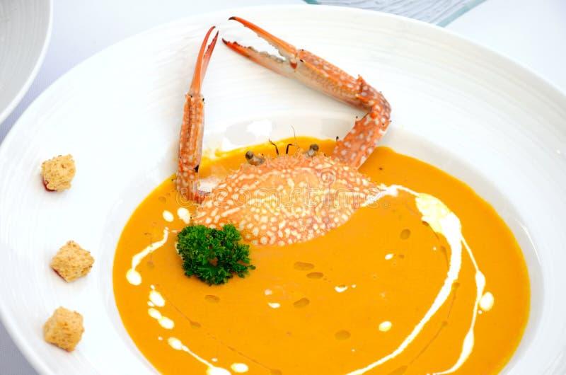 Очень вкусные супы краба стоковое фото