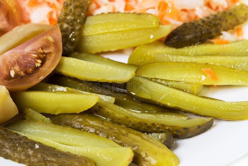 Очень вкусные marinated замаринованные овощи стоковые изображения rf