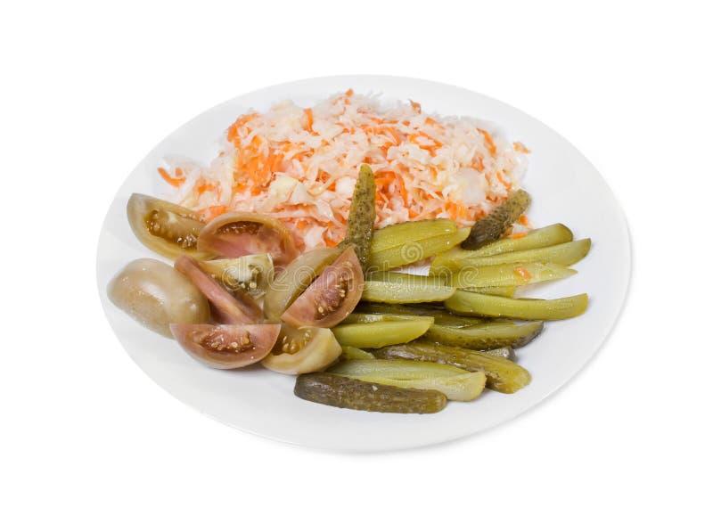 Очень вкусные marinated замаринованные овощи стоковое фото rf