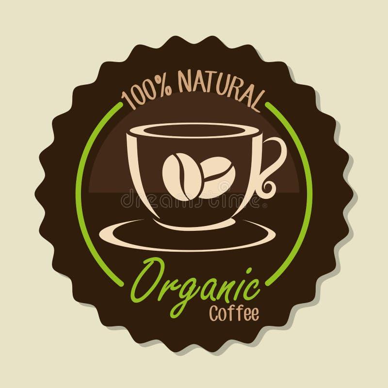 Очень вкусный естественный и органический кофе иллюстрация штока