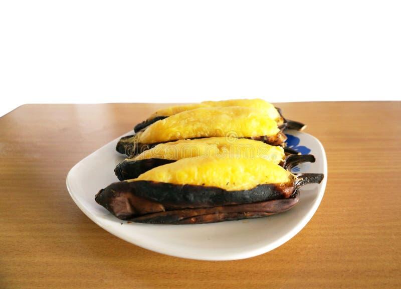 Очень вкусный зажаренный серебряный банан Bluggoe стоковое фото rf