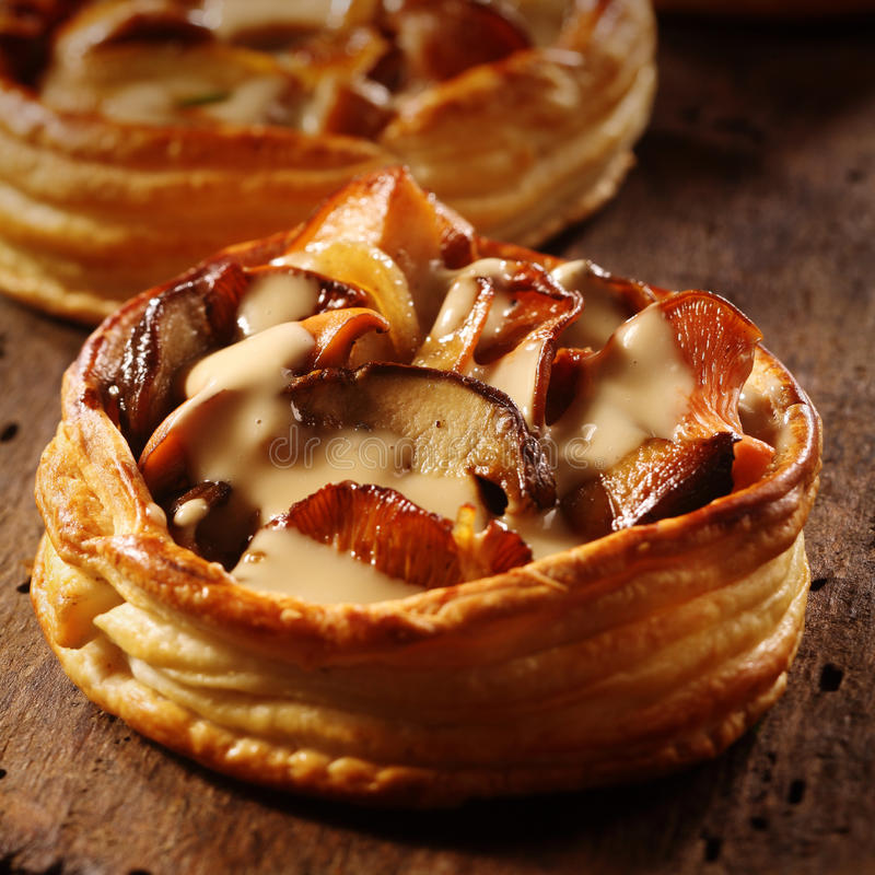 Очень вкусный индивидуальный пирог гриба стоковые фото