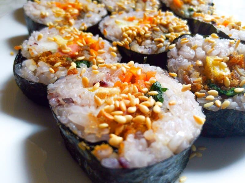 Очень вкусный кореец Kimbap стоковое изображение rf