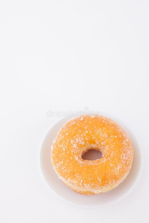Очень вкусный донут кольца сахара стоковая фотография