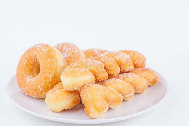 Очень вкусный донут кольца сахара стоковое изображение