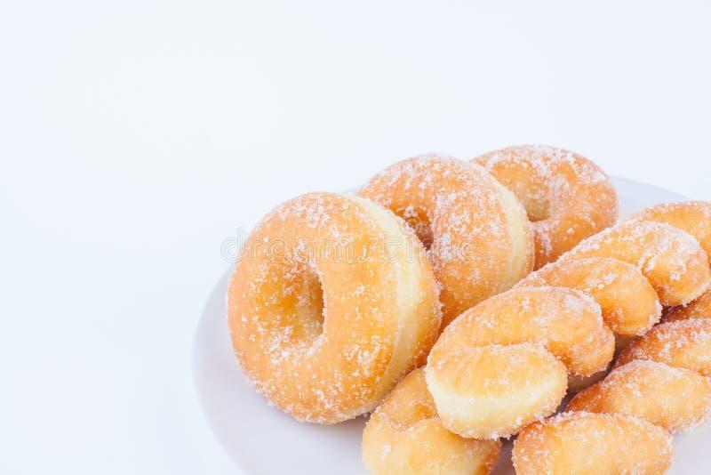 Очень вкусный донут кольца сахара стоковые изображения rf