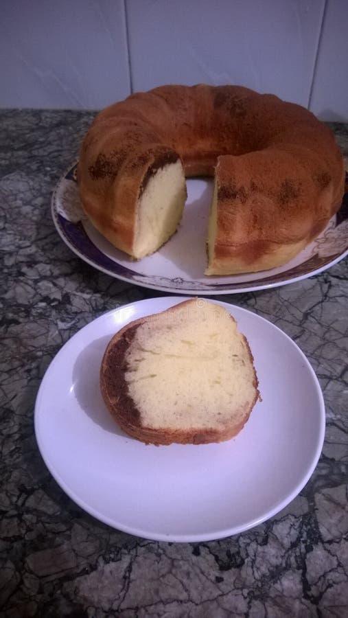 Очень вкусный простой торт стоковая фотография rf