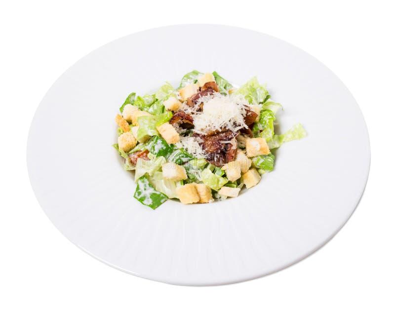 Очень вкусный салат цезаря с утиной ножкой стоковые изображения