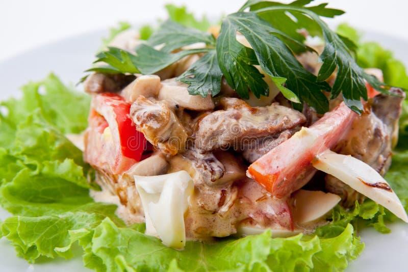 Очень вкусный свежий салат стоковая фотография rf