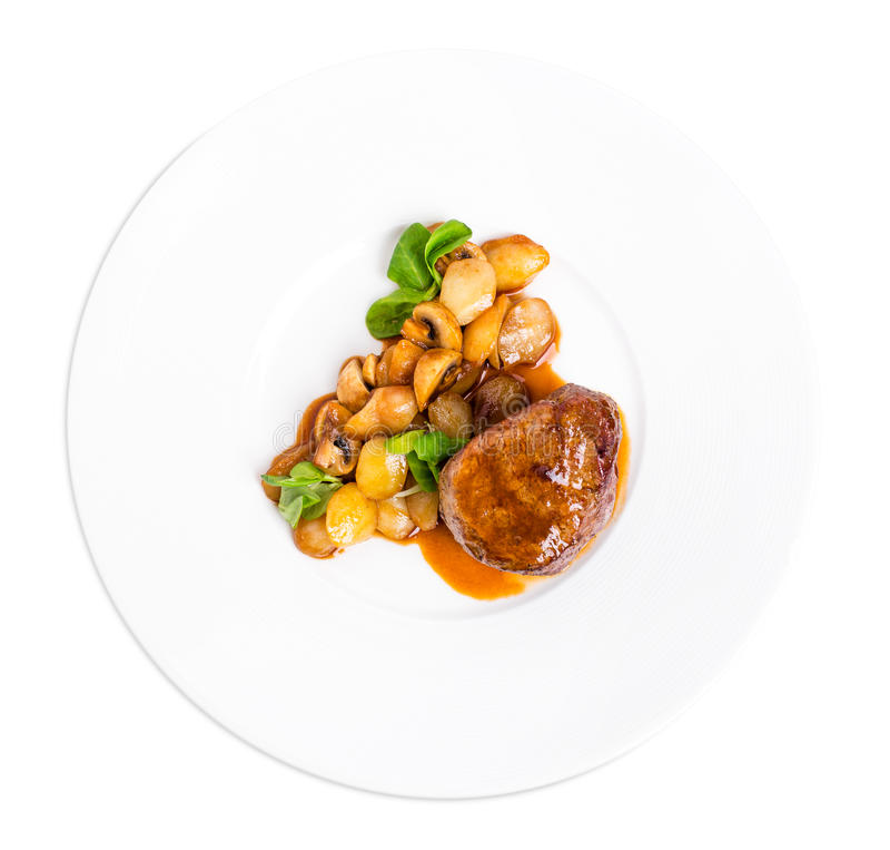 Очень вкусный стейк говядины в соусе demiglas стоковые фотографии rf