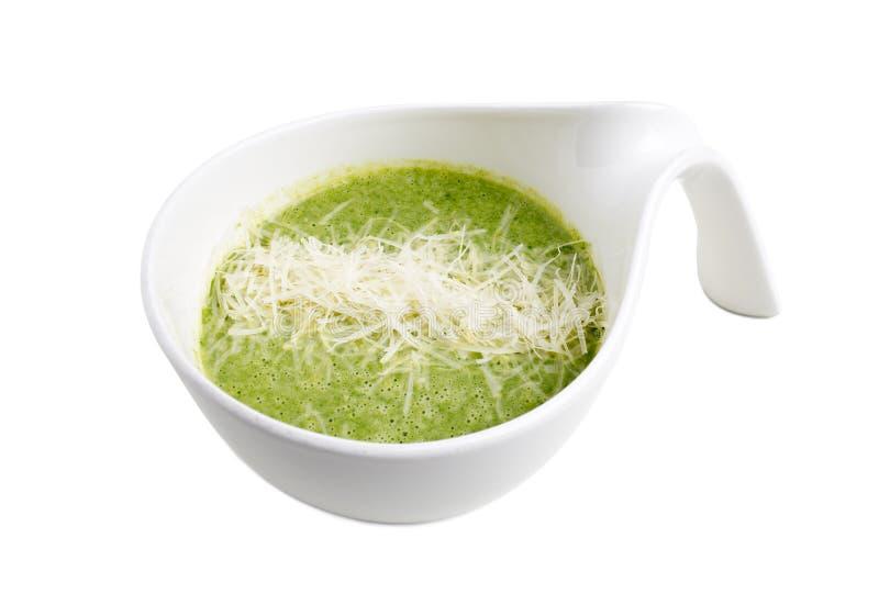 Очень вкусный суп сливк шпината стоковое изображение rf