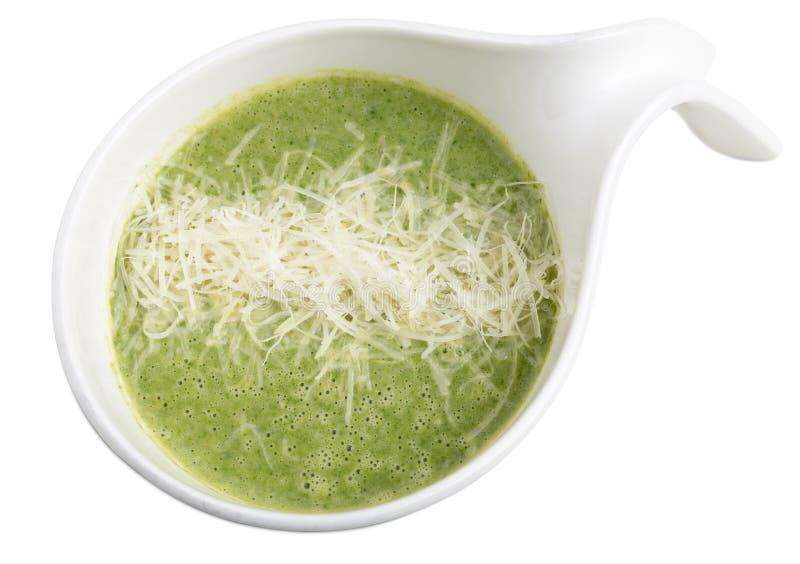 Очень вкусный суп сливк шпината стоковая фотография rf
