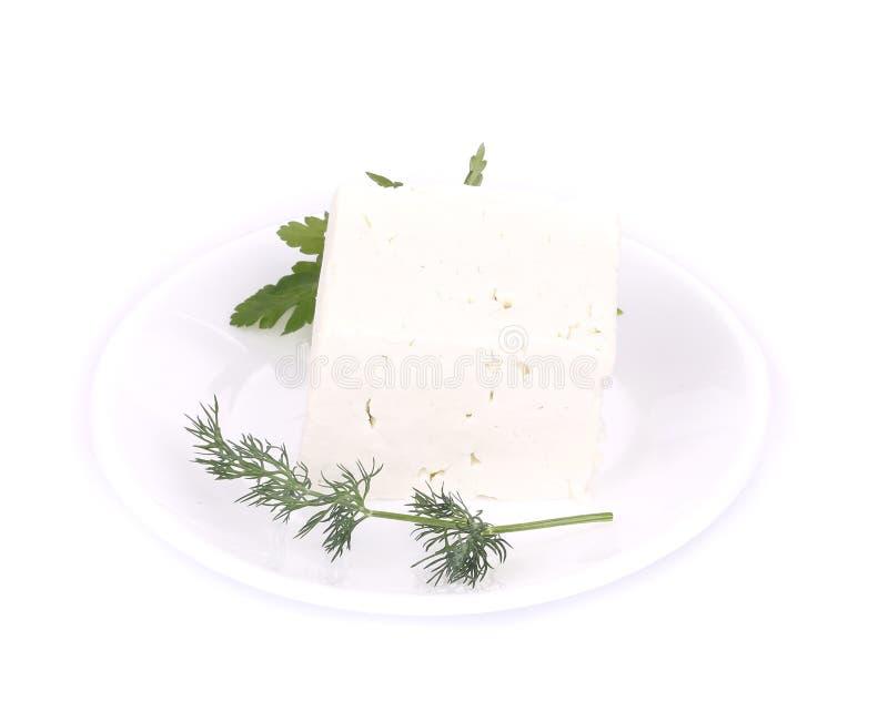 Очень вкусный сыр фета с петрушкой и укропом стоковое изображение rf