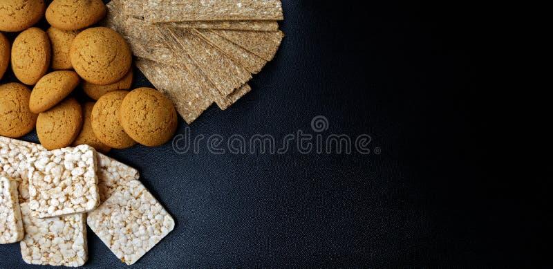 Очень вкусный хрустящий хлеб Завтраки для диеты стоковая фотография rf