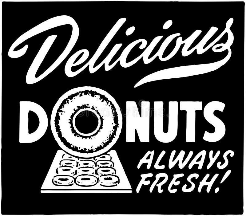 Очень вкусный Donuts иллюстрация вектора