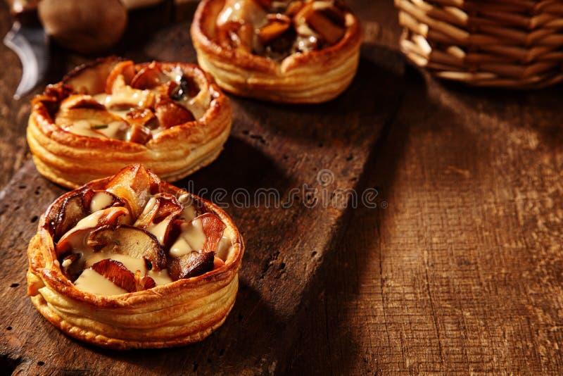 3 очень вкусных свежих пирога гриба стоковое фото