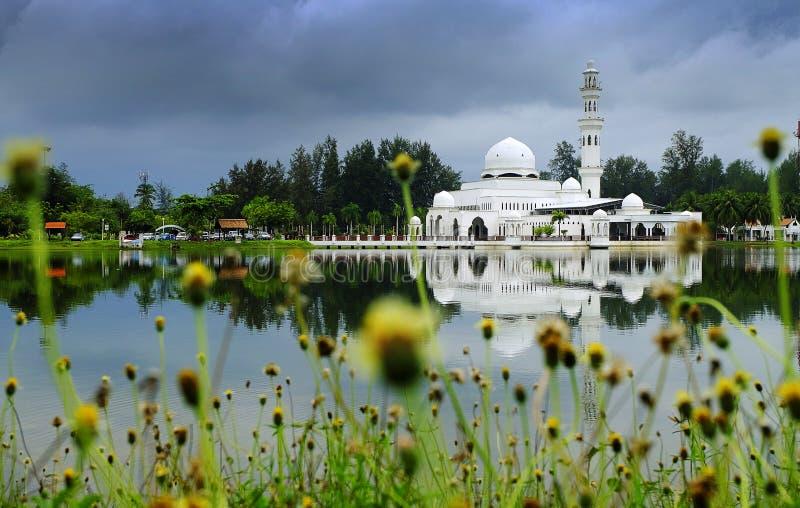 Очень красивая мечеть Kuala Ibai в Terengganu стоковое фото rf