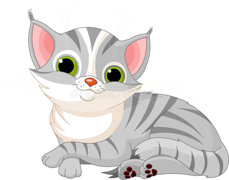 Очень милый кот иллюстрация вектора